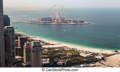 Dubai Marina beach Ferris wheel time-lapse