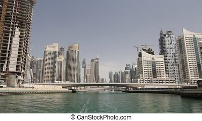 Dubai Marina Seen From Boat, United Arab Emirates