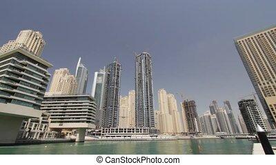 Dubai Marina Seen From Boat, United Arab Emirates