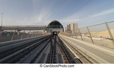 Dubai Metro - Dubai Seen From The Metro, United Arab...