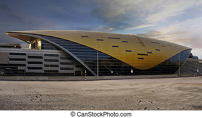 Dubai Metro Station - Sharaf DG Metro station in Dubai, the...