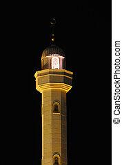 dubai, moskee, minaret