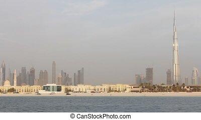 Dubai Seen From Boat, United Arab Emirates