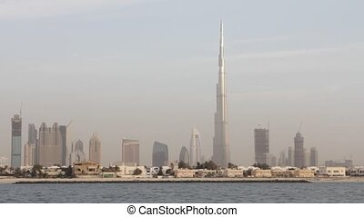 Dubai Seen From Boat, United Arab Emirates