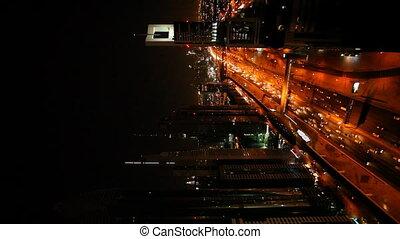 dubai skyline and busy road vertical_1.mov