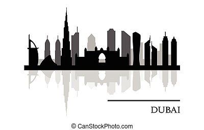 Dubai skyline panoramic view