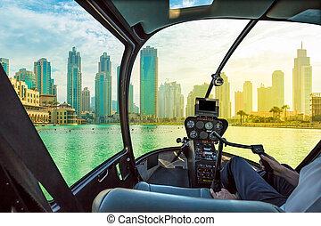 Dubai skyline scenic flight