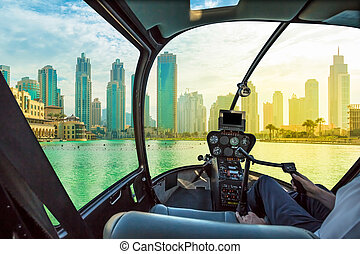 Dubai skyline scenic flight