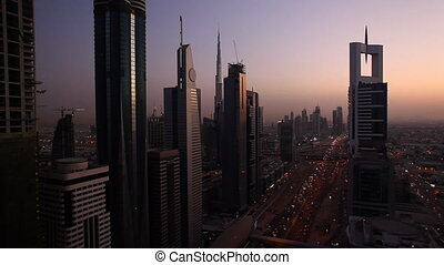 dubai traffic after sunset.mov