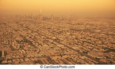 dubai, uae, aérien, emirats, ville, uni, vue, arabe