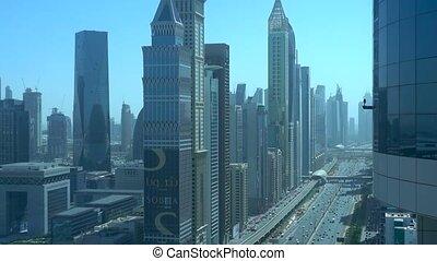 DUBAI, UAE - March, 10, 2020: Dubai Highway. Editorial