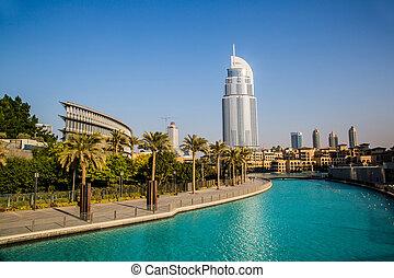 Address Hotel in the downtown Dubai area overlooks the famous da