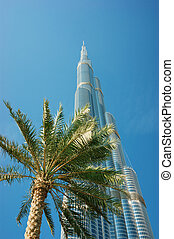DUBAI, UAE-NOVEMBER 14: Burj Khalifa - the world's tallest tower at Downtown Burj Dubai on November 14, 2012 in Dubai, UAE