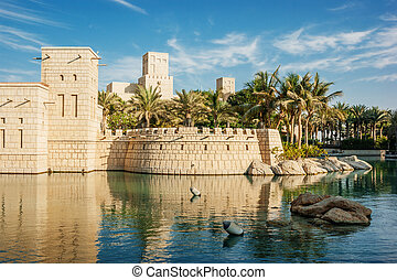 Views of Madinat Jumeirah hotel - DUBAI, UAE - NOVEMBER 15:...
