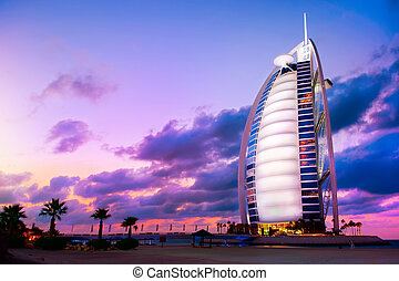 DUBAI, UAE - NOVEMBER 27: Burj Al Arab hotel on Nov 27, 2011...