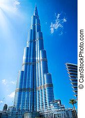 DUBAI, UAE. - NOVEMBER 29 : Burj Dubai - tallest building in the world, at 828m. on November 29, 2011 in Dubai, UAE. View from Downtown Dubai