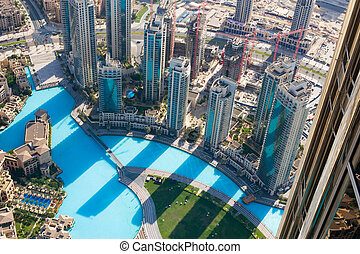 DUBAI, UAE. - NOVEMBER 29 : Dubai, the top view on Dubai ...
