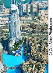 DUBAI, UAE. - NOVEMBER 29 : Dubai,the top view on Dubai from...