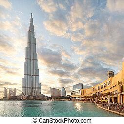 DUBAI, UAE - OCTOBER 23: Burj khalifa, the highest building...