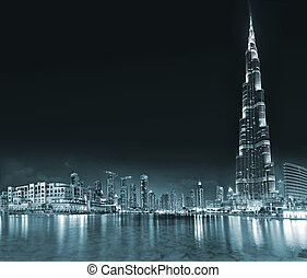 DUBAI, UAE - OCTOBER 23: Burj khalifa, the highest building in the world, Downtown on October 23, 2012 in Dubai, UAE