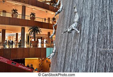 DUBAI, UAE - OCTOBER 23: Interior View of Dubai Mall -...