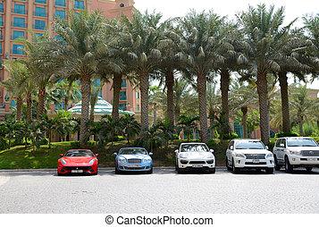 DUBAI, UAE - SEPTEMBER 11: The Atlantis the Palm hotel and...