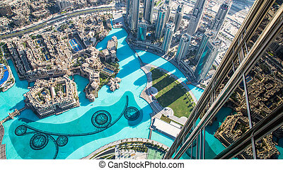 dubai, unidas, downtown., árabe, emirates, arquitetura, leste