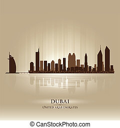 Dubai United Arab Emirates skyline city silhouette