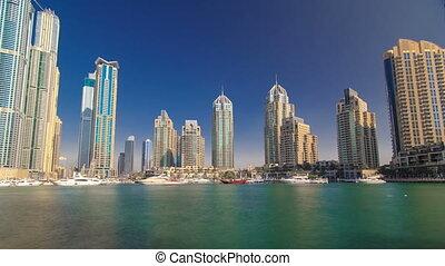 DUBAI, UNITED ARAB EMIRATES, view on Dubai Marina Canal...