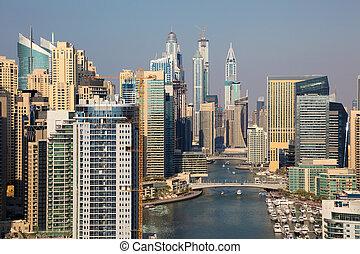 dubai, vereinigte arabische emirate, cityscape., marina, dubai