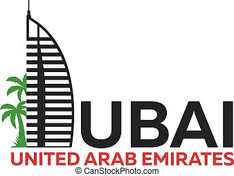dubai, vereint, araber, emirates., uae., logo.