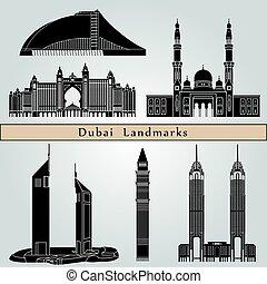 dubai, wahrzeichen, denkmäler