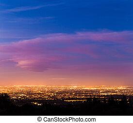 Dublin City at dusk during Blue Hour