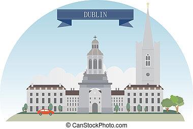 Dublin  - Dublin, Ireland. Vector for you design