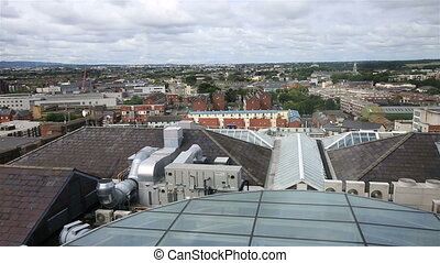 Dublin from the observation deck of Guinness Storehouse. Ireland