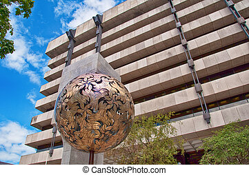 Dublin, Ireland - August 1, 2015: Central Bank of Ireland