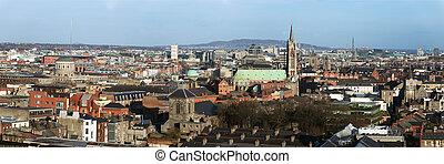 Dublin Ireland city skyline panorama