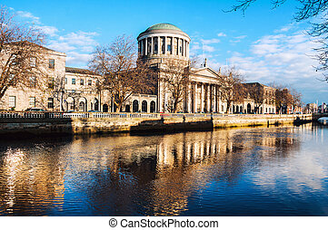 Four courts building in Dublin, Ireland