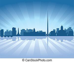 Dublin, Ireland skyline - Dublin, Ireland skyline...