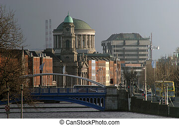Dublin Landmarks - Dublin, Showing some key landmarks, as...