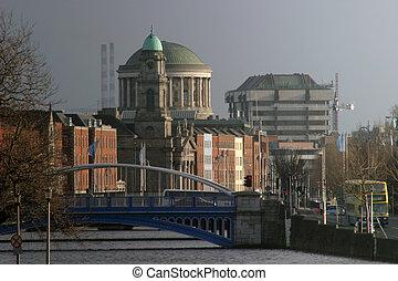 Dublin Landmarks - Dublin, Showing some key landmarks, as...