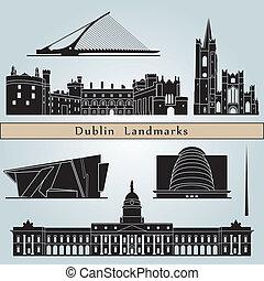 dublin, marcos, e, monumentos