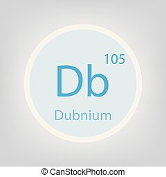 dubnium, db, 化学物質, 要素, アイコン