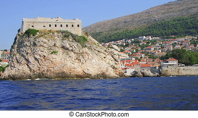 Dubrovni fortress St. Lawrence - Dubrovnik old town walls -...