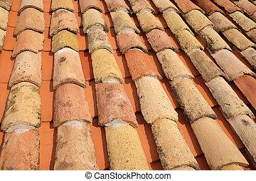 dubrovnik, 屋根, 都市, 典型的, croatia, 古い