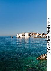 dubrovnik, alte stadt, aus, der, adriatisches meer