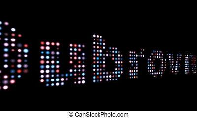 Dubrovnik colorful led text over black