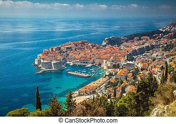 Dubrovnik, Croatia. - Beautiful romantic old town of ...