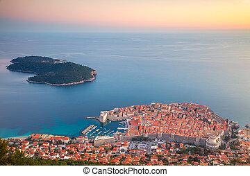 Dubrovnik, Croatia. - Beautiful romantic old town of...