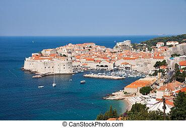 Dubrovnik, Croatia - Panoramic view of Dubrovnik, Croatia